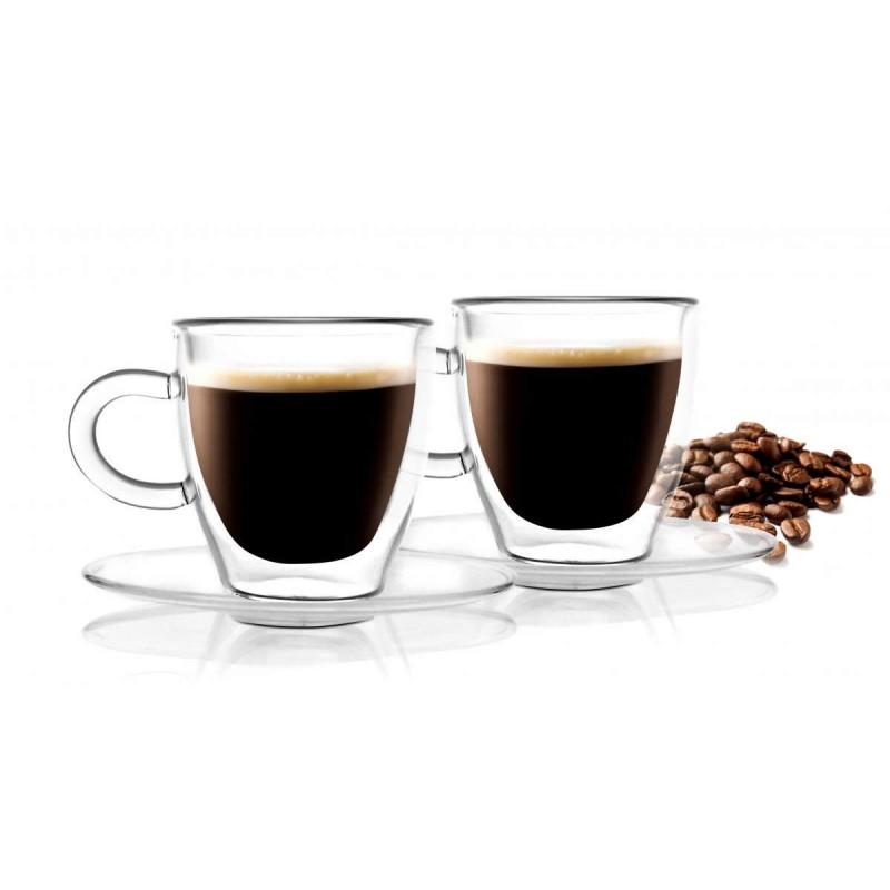 Filiżanki Termiczne Z Uchem Do Kawy Espresso 50ml 2szt
