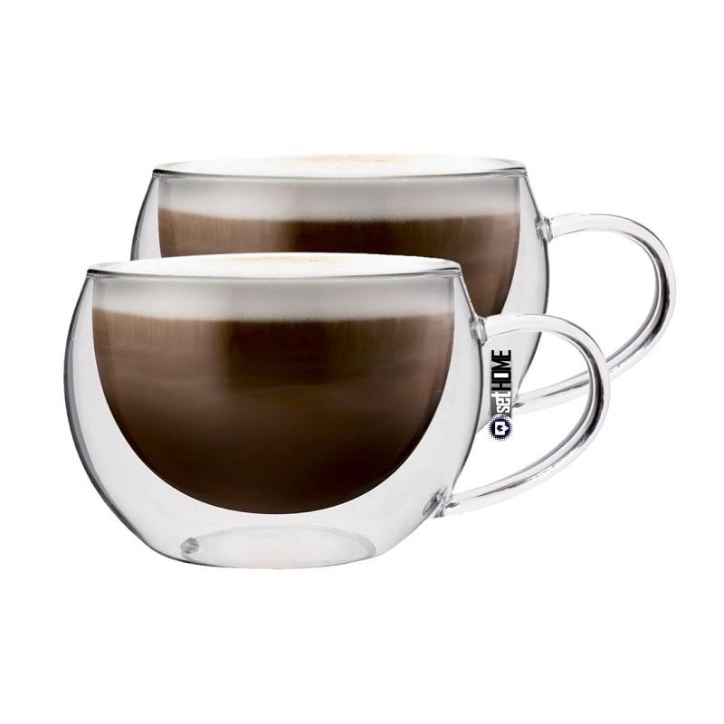 Szklanki Termiczne Do Kawy Cappuccino Z Uchem 2szt