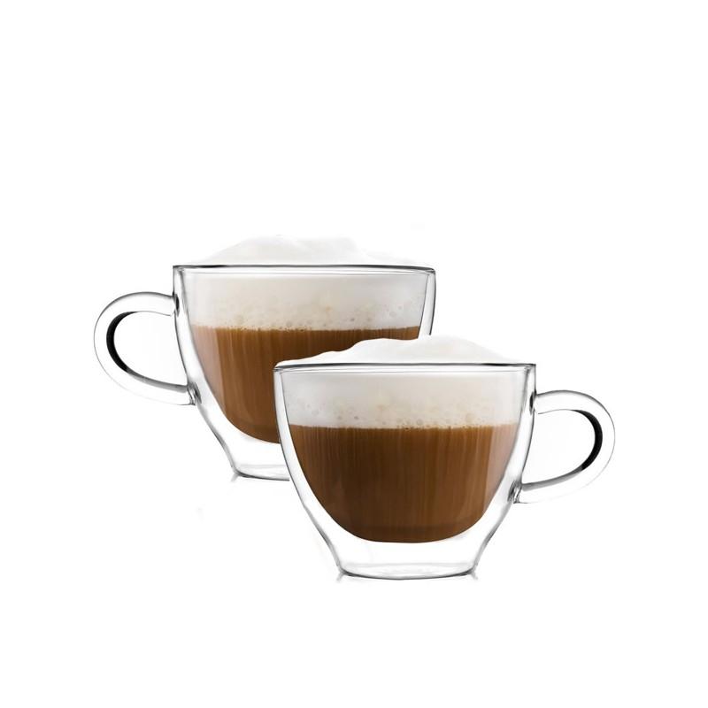 Filiżanki Termiczne Z Uchem Do Kawy Cappucino 300ml 2szt