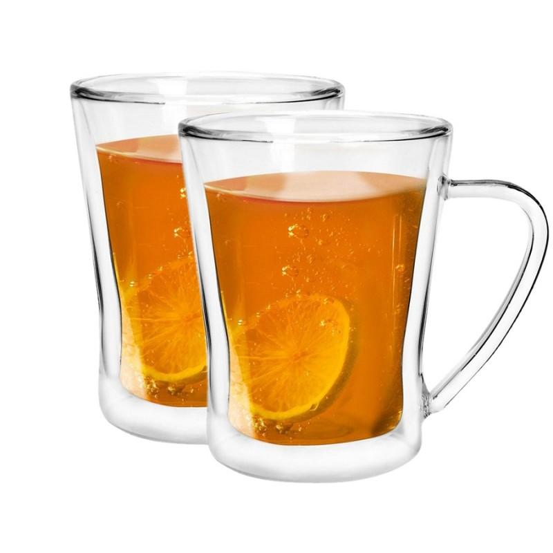Szklanki Termiczne Z Uchem Do Herbaty Amo 250ml 2szt